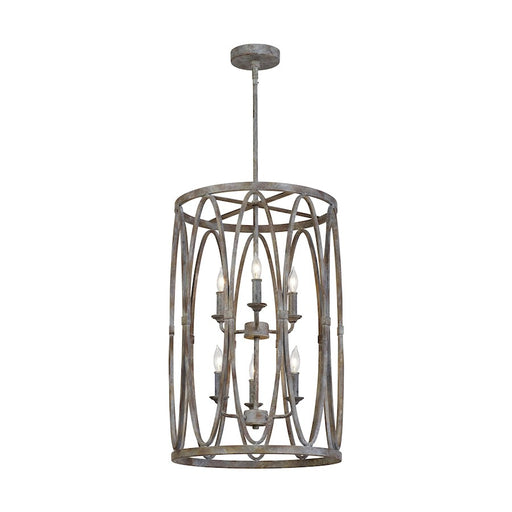 Feiss Patrice 6 Light Chandelier, Deep Abyss