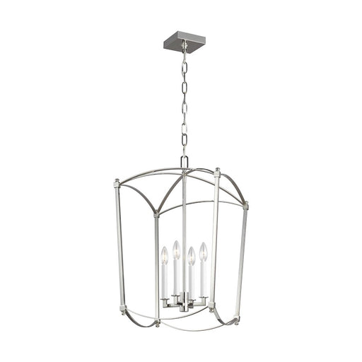 Feiss Thayer 4-Light Lantern, Polished Nickel - F3322-4PN
