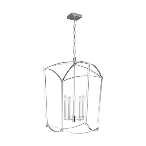 "Murray Feiss Thayer 5-Light 19"" Chandelier, Polished Nickel - F3323-5PN"