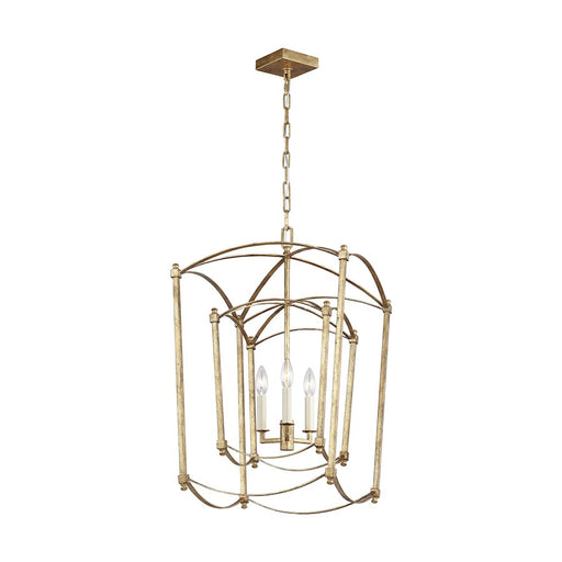 Murray Feiss Thayer 3-Light Chandelier, Antique Gild - F3327-3ADB