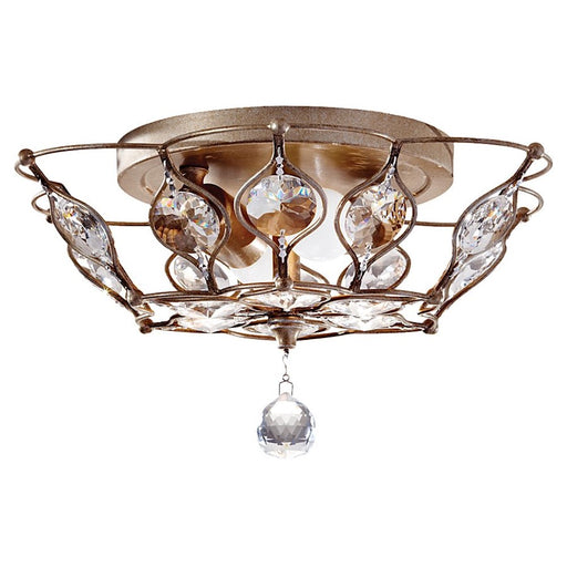 Feiss Leila 2-Light Indoor Flush Mount, Burnished Silver