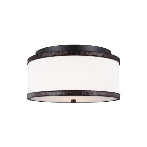 Feiss Marteau 2 Light Indoor Flush Mount, Oil Rubbed Bronze