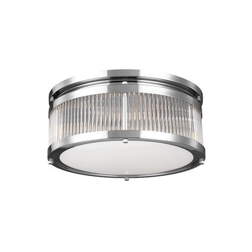 Feiss Paulson 3 Light Flushmount, Chrome
