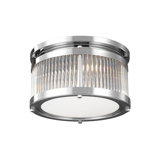 Feiss Paulson 2 Light Flushmount, Chrome