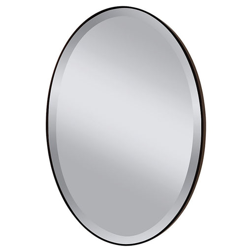 Feiss Johnson Oval Mirror, Oil Rubbed Bronze