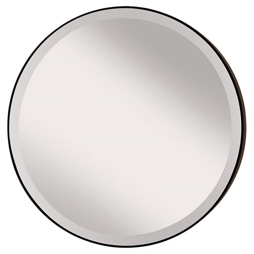 Feiss Johnson Round Mirror, Oil Rubbed Bronze