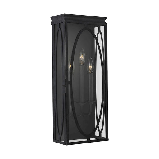 Feiss Patrice Wall Lantern, Dark Weathered Zinc