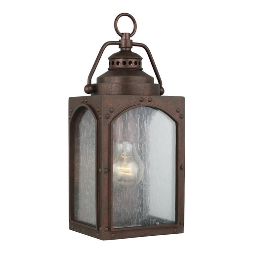 Feiss Randhurst 1 Light Wall Lantern, Copper Oxide