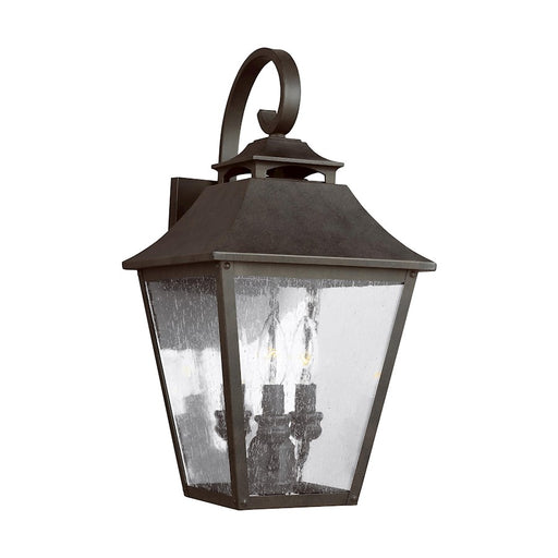 Feiss Galena 3 Light Wall Lantern, Sable