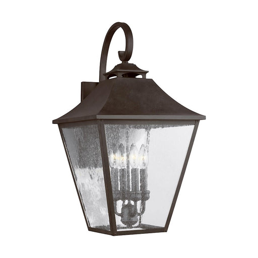 Feiss Galena 4 Light Wall Lantern, Sable