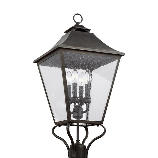 Feiss Galena 4 Light Post/Pier Lantern, Sable