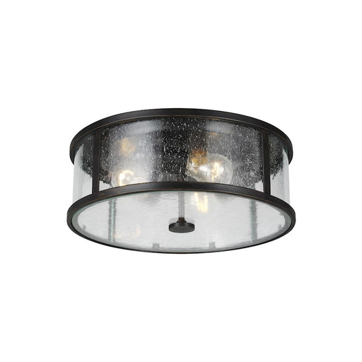 Feiss Dakota 3 Light Flush Mount, Espresso