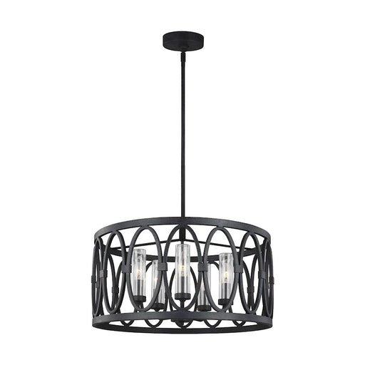 Feiss Patrice 5 Light Chandelier, Dark Weathered Zinc