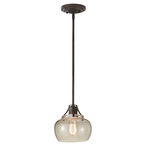Feiss Urban Renewal 1-Light Mini Pendant in Rustic Iron