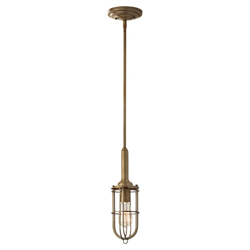 Feiss Urban Renewal 1-Light Mini Pendant, Dark Antique Brass