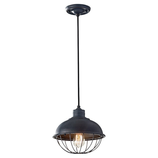 Feiss Urban Renewal 1-Light Pendant, Antique Forged Iron