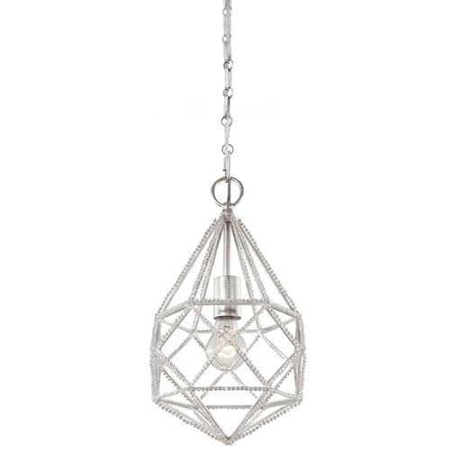 Feiss 1-Light Marquise Mini Pendant, Silver