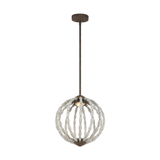 Feiss Orren 1 Light Pendant, Grey/Weathered Iron