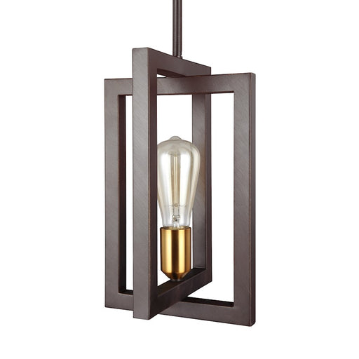 Feiss Finnegan 1 Light Mini-Pendant, New World Bronze