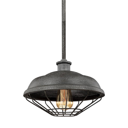 Feiss Lennex 1 Light Mini-Pendant, Slated Grey Metal