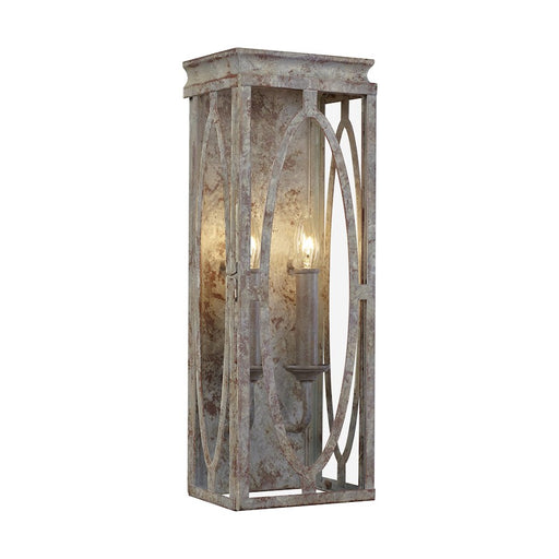 Feiss Patrice 2 Light Wall Sconce, Deep Abyss