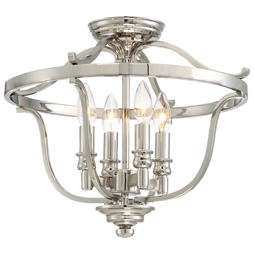 Minka Lavery Audrey's Point 4 Light Semi Flush, Polished Nickel