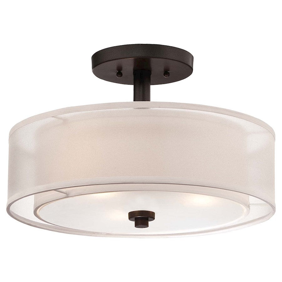 Minka Lavery Parsons Studio 3 Light Semi Flush Mount