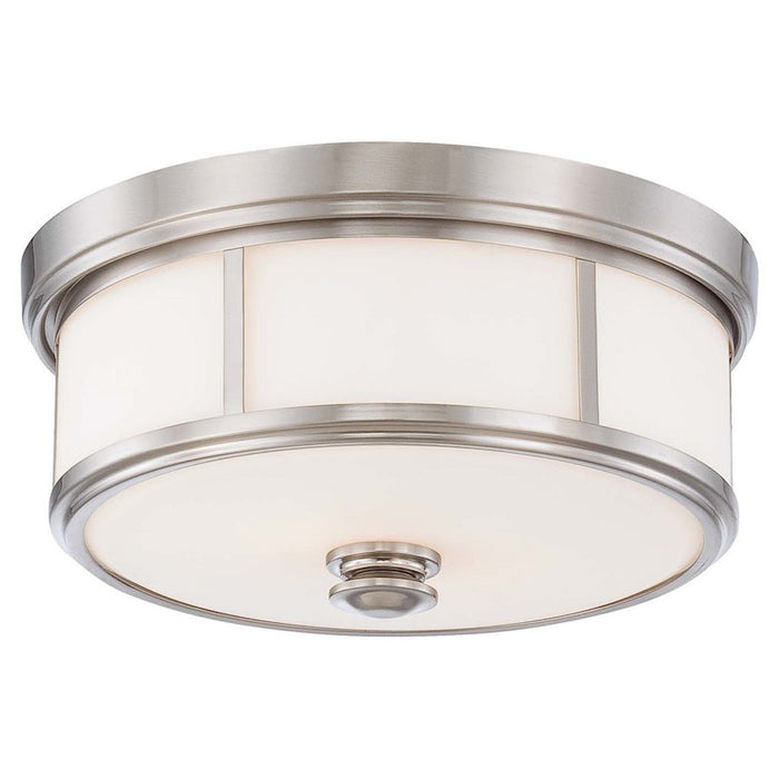 Minka Lavery Harbour Point 2 Light Flush Mount, Brushed Nickel