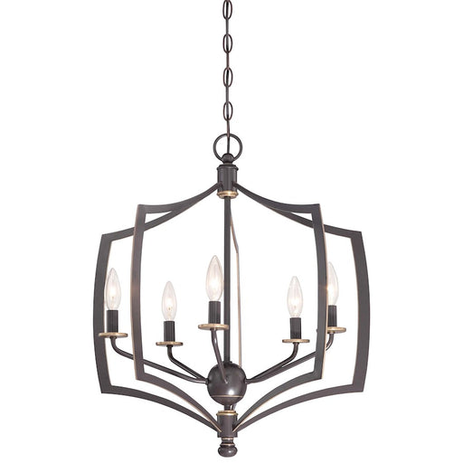 Minka Lavery Middletown Chandelier Downton Bronze with Gold