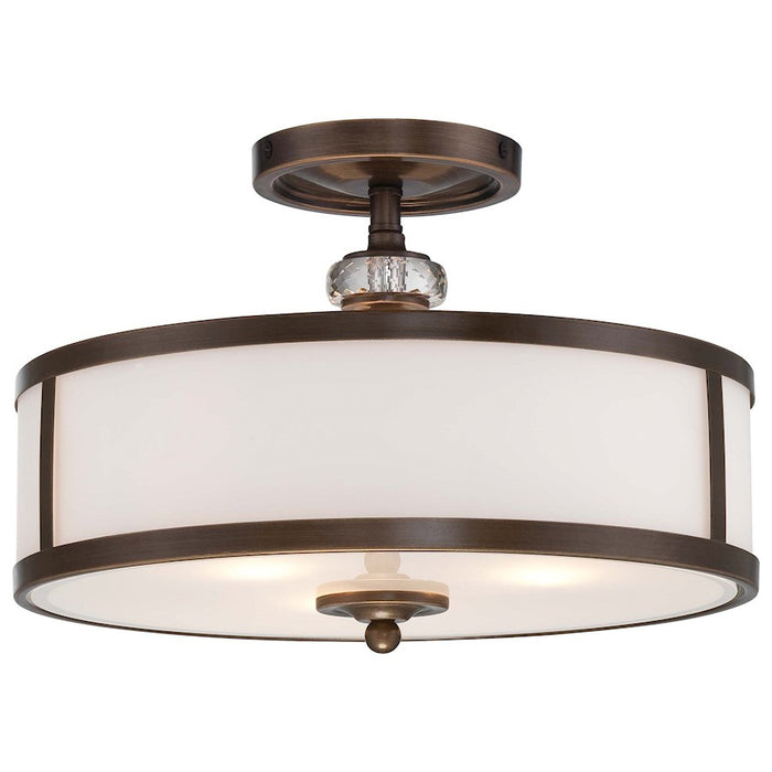Minka Lavery Thorndale 3 Light Semi Flush Mount, Dark Noble Bronze