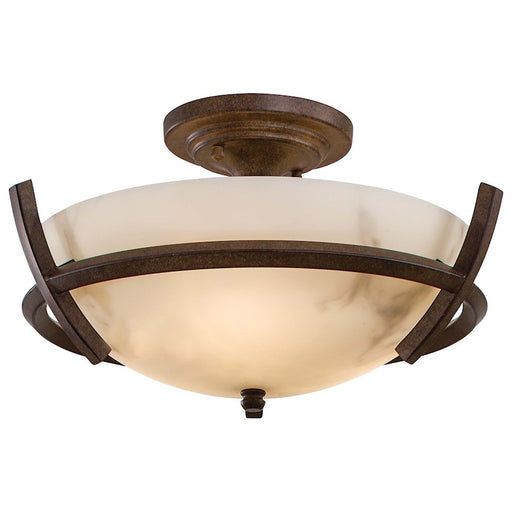 Minka Lavery Calavera 3 Light Semi Flush Mount, Nutmeg
