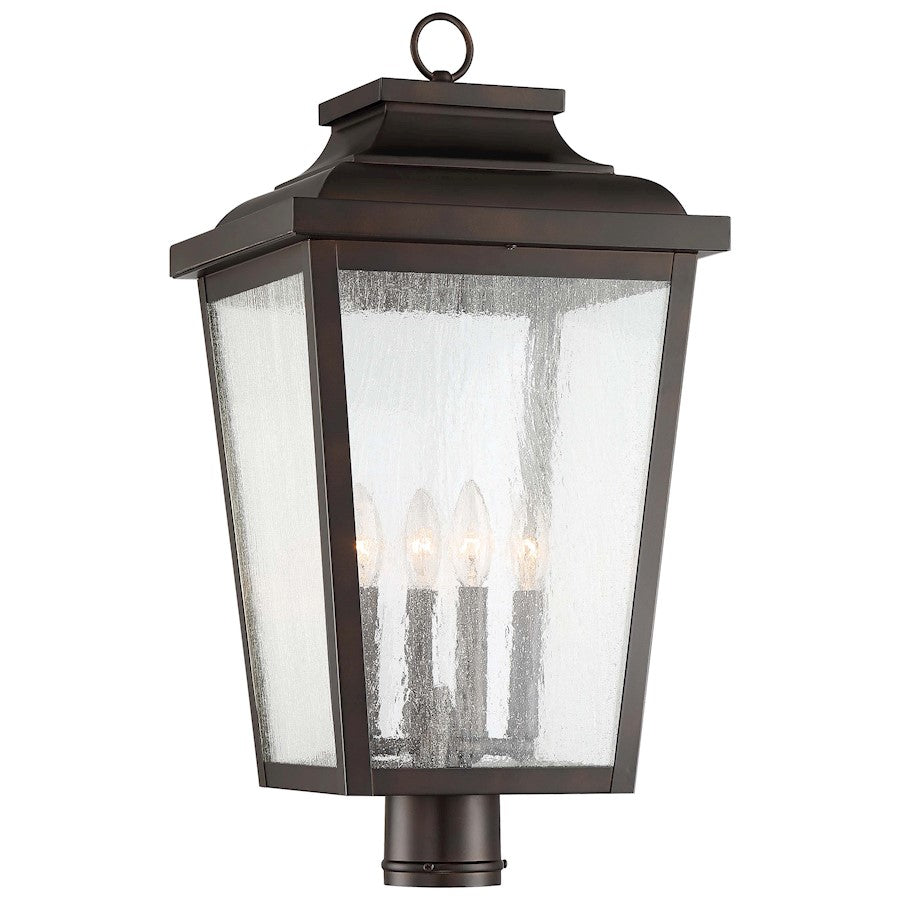 Minka Lavery Irvington Manor 4-Light Chelsea Post Mount, Bronze