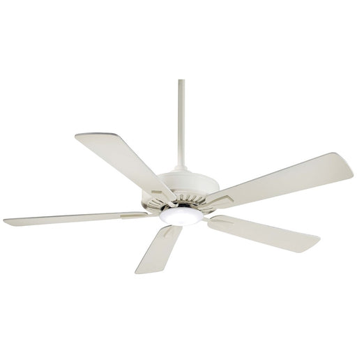 Minka Aire Contractor Plus LED Ceiling Fan, Bone White