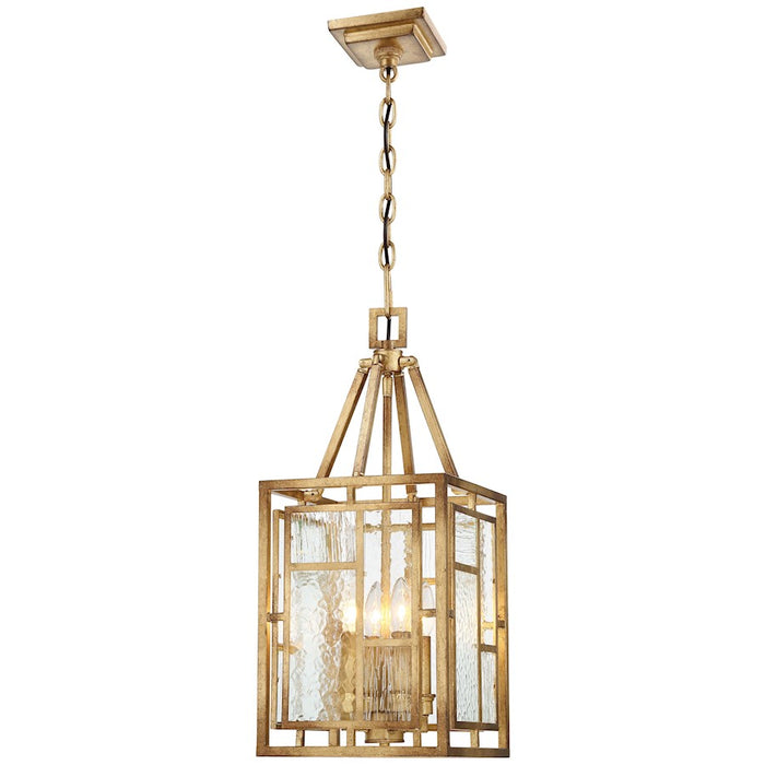 Minka Metropolitan Edgemont Park 4 Light Mini Pendant, Pandora Gold