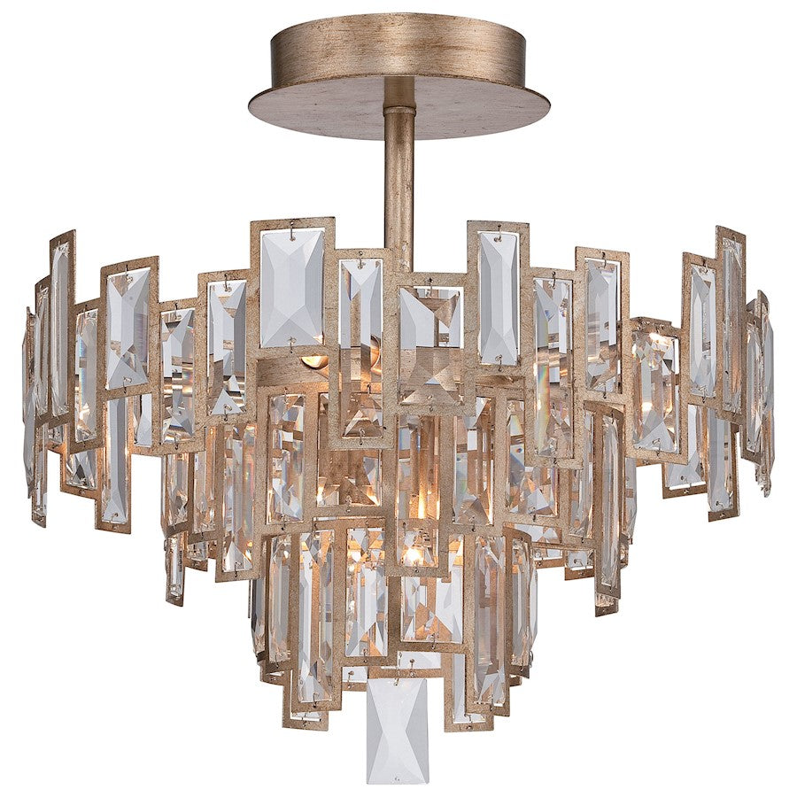 Minka Metropolitan Bel Mondo 5 Light Semi Flush Mount, Luxor Gold