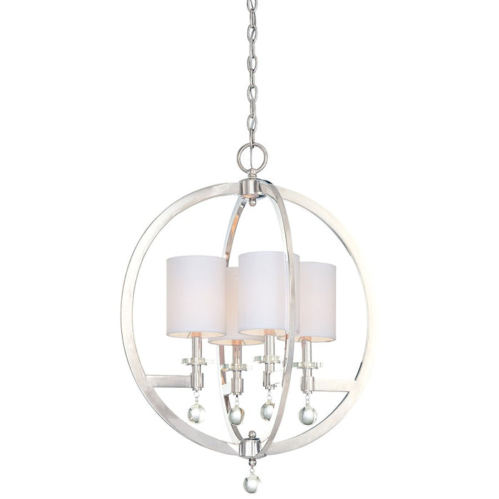 "Minka Metropolitan Chadbourne 4-Light Pendant, 29.5"", Polished Nickel"