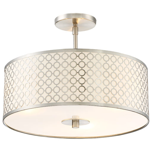 Minka George Kovacs Dots 3 Light Semi Flush Mount, Brushed Nickel