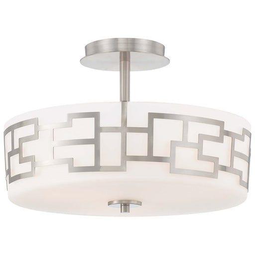 Minka George Kovacs Alecia's Necklace 3-LT Semi Flush Mount, Nickel