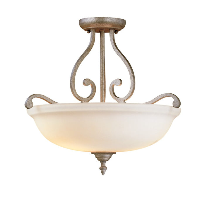 Millennium Lighting Courtney Lakes Semi-Flush Light, Vintage Iron