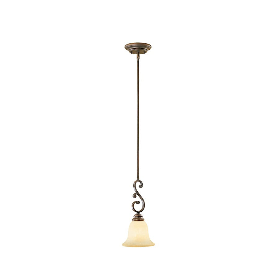 Millennium Lighting Oxford 1 Light Mini-Pendant, Rubbed Bronze