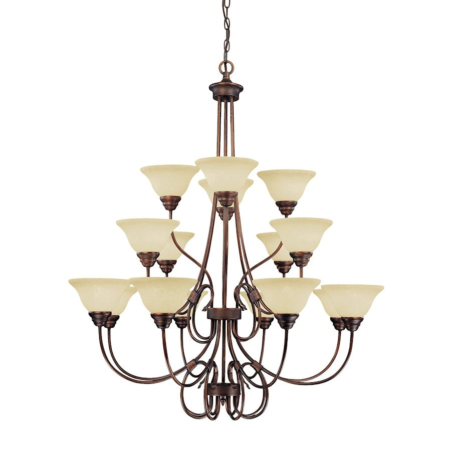 Millennium Lighting Fulton 16 Light Chandelier, Rubbed Bronze