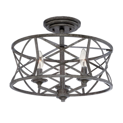 Millennium Lighting Lakewood 3-Light Semi-Flush Mount