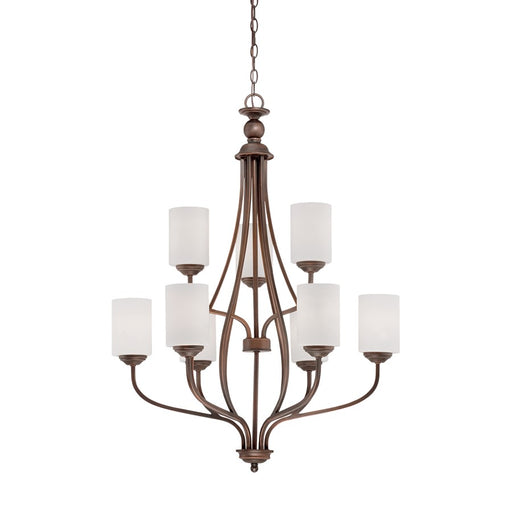 Millennium Lighting Lansing Chandelier Light, Rubbed Bronze