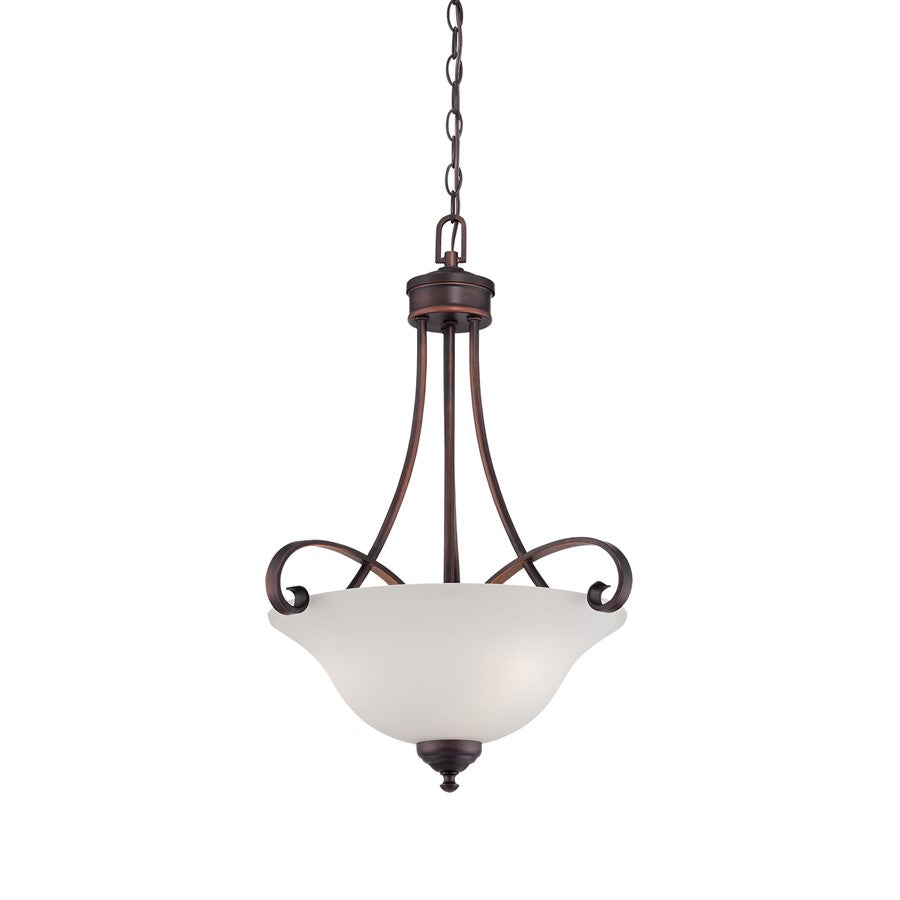 Millennium Lighting Kingsport Pendant Light, Rubbed Bronze