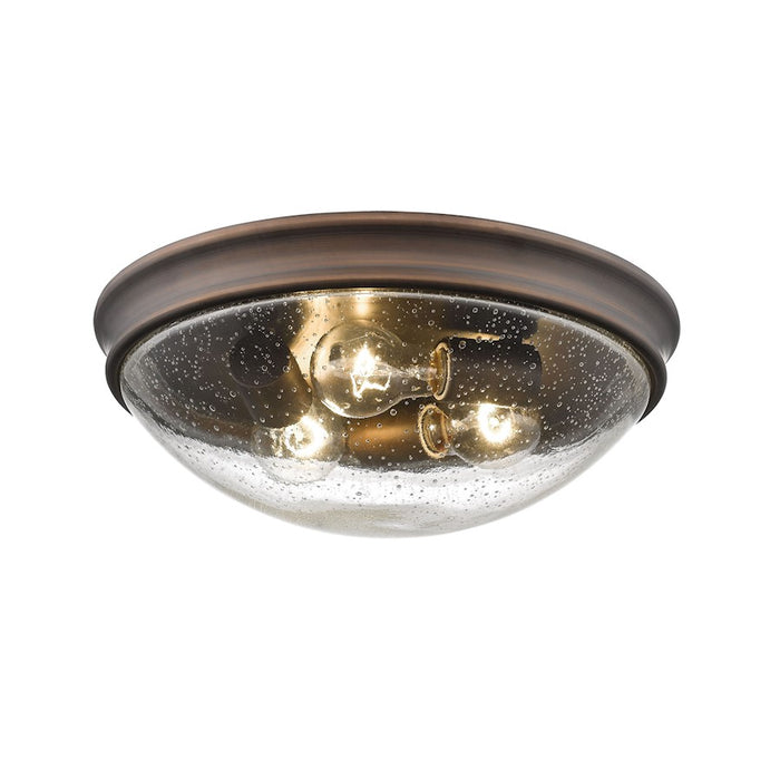 Millennium Lighting Flushmount with Clear Seeded Glass