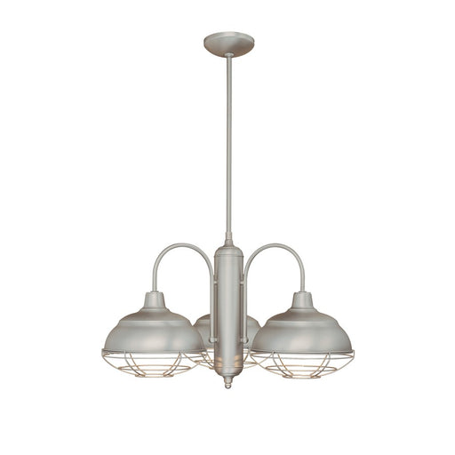 Millennium Lighting Neo-Industrial Chandelier, Satin Nickel