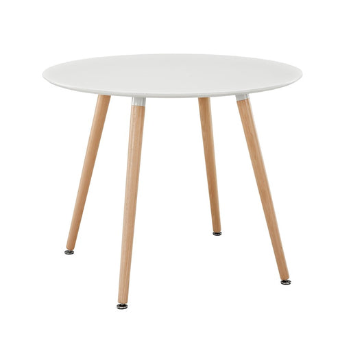 Modway Furniture Track Circular Dining Table, White - EEI-1055-WHI