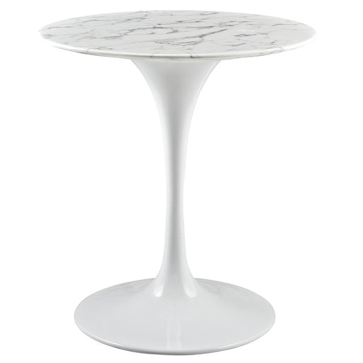 Modway Lippa Circle Artificial Marble Dining Table
