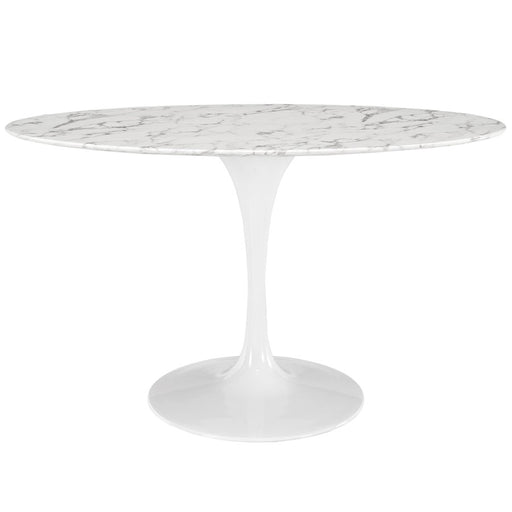 Modway Lippa Oval Artificial Marble Dining Table