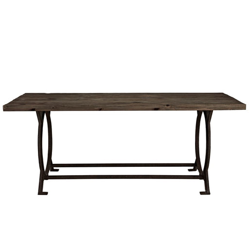 Modway Furniture Effuse Wood Top Dining Table, Brown - EEI-1205-BRN